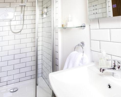 Walk in Showers with Ensuite Facilities at Newton Lodge